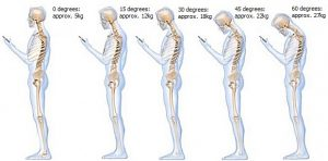 The effect of neck angle on weight